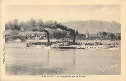Valence - La Navigation Sur Le Rhône, Bateau à Aube La Provence - Photo Paul Jacquin - Carte Non Circulée - Valence