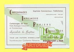 Carte De Visite Commerciale. ROCHEFORT Sur MER, Maison C. I. P. E. 30, Rue Audry , Imprimés Commerciaux Publicitaires - Imprimerie & Papeterie