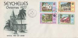 Enveloppe  FDC   1er  Jour    SEYCHELLES   Noël   1977 - Seychelles (1976-...)