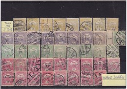 #8629 Hungary, Lot Of 502 Stamps Used Turul 1900 - 13 Without Localities On Pmk, Mostly Budapest - Timbres