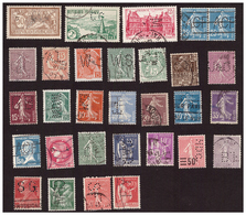 30 Timbres France Perfores - Francia