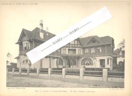 """TOUQUET PARIS - PLAGE = Photo Et Plan De La Ville """" La Closerie """"  M. Bical Architecte - Architecture, Maison (b233) - Architecture"""