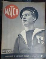 Match N° 71 9 Novembre 1939. Matelot Gérard Décoré - Journaux - Quotidiens