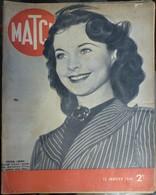 Match N° 82 25 Janvier 1940. Vivian Leigh - Journaux - Quotidiens