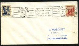 ALGERIE: Enveloppe Avec 10F Oblt CàD Type Flamme ALGER GARE  TirailleurS SENEGALAIS Pour PARIS - Algérie (1924-1962)