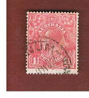 AUSTRALIA  - SG 96 -  1927  KING GEORGE V 1 1/2 D  RED     -   USED - 1913-36 George V: Heads