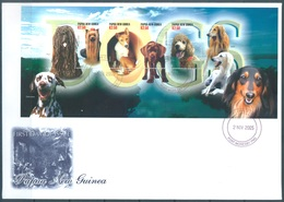 PAPUA NEW GUINEA - FDC  - 2.11.2005 - DOGS - Yv 1076F-1076J -  Lot 17674 - Papouasie-Nouvelle-Guinée