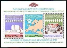 For Cooperation In Europe Vienna  - Bulgaria / Bulgarie 1987 -  Block  MNH** - European Ideas