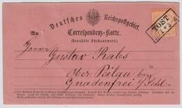 Rosa Rückantwort-Karte  , #a826 - Deutschland