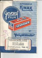 Pochette Pour Negatif  GEVAERT   Appareils KINAX  ( Tampon HOSSEGOR ) - Photographie
