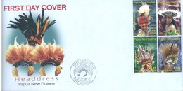 PAPUA NEW GUINEA - FDC  - 31.7.2008 - HEADDRESS - Yv 1231-1234 -  Lot 17679 - Papouasie-Nouvelle-Guinée