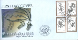 PAPUA NEW GUINEA - FDC  - 25.6.2008 - PIONEER ART - Yv 1219-1222 -  Lot 17680 - Papouasie-Nouvelle-Guinée