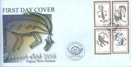 PAPUA NEW GUINEA - FDC  - 25.6.2008 - PIONEER ART - Yv 1219-1222 -  Lot 17680 - Papua-Neuguinea