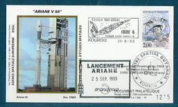 ESPACE - ARIANE Vol Du 1993/09 V59 - CNES - 5 Documents - Europa