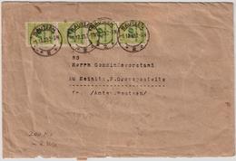 1923, Portogerechter Dezember- Brief , Rücks. Massenfrank.   , #a832 - Deutschland
