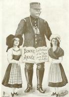 CPA Patriotique - Général Joffre , Bonne Année Pour 1915 La Paix Et La Victoire Par Morat , Voyagée - Patriotiques