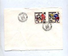 Lettre Cachet Prague 1972 Championnat Monde Hockey Sur Glace - Jockey (sobre Hielo)