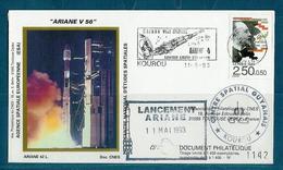 ESPACE - ARIANE Vol Du 1993/05 V56 - CNES - 4 Documents - Europe