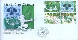 PAPUA NEW GUINEA - FDC  - 27.2.2008 - ASARO MUDMEN LEGEND - Yv 1199-1202 -  Lot 17683 - Papouasie-Nouvelle-Guinée
