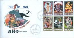 PAPUA NEW GUINEA - FDC  - 12.12.2007 - CONTEMPORARY ART - Yv 1189-1194 -  Lot 17684 - Papouasie-Nouvelle-Guinée