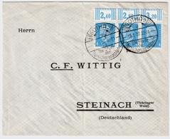 DR, Nr. 454, 3er Streifen, Ober-Rand   , #a837 - Deutschland