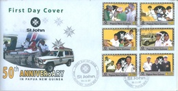 PAPUA NEW GUINEA - FDC  - 30.11.2007 - ST JOHN 50th ANNIVERSARY - Yv 1183-1188 -  Lot 17685 - Papouasie-Nouvelle-Guinée