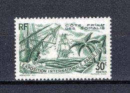 COTE DES SOMALIS N° 142  NEUF AVEC CHARNIERE COTE 2.75€  EXPOSITION DE PARIS - Französich-Somaliküste (1894-1967)