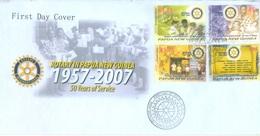 PAPUA NEW GUINEA - FDC  - 5.9.2007 - ROTARY - Yv 1169-1172 -  Lot 17686 - Papua-Neuguinea