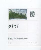 M P1L4 Polynésie Ile De Maupiti Coin De Feuille  766 **  2006 - Unused Stamps