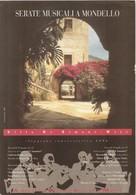 LOCANDINA SERATE MUSICALI A MONDELLO 1994+2 - Oggetti 'Ricordo Di'