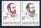 ALBANIA 2000 Gustav Mayer Centenary Set Of 2 MNH / **.  Michel 2734-35 - Albania