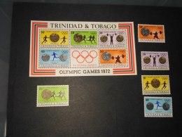 Trinidad And Tobago  1972 Olympic Games SC#223-227 ,227a - Trinidad & Tobago (1962-...)