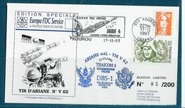 ESPACE - ARIANE Vol Du 1993/12 V62 - Conseil De L'Europe - 1 Document - Europe