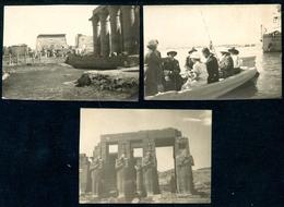 Foto , 1925, 3 Stück, NIL_auf Dem Weg Nach Karnak, Luxor - Ägypten