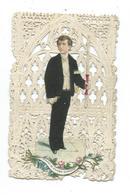 IMAGE PIEUSE/ CANIVET / DENTELLE Avec CHROMO.. Souvenir De Première Communion - Devotieprenten