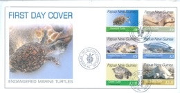 PAPUA NEW GUINEA - FDC  - 23.3.2007 - ENDANGERED MARINE TURTLES - Yv 1133-1138-  Lot 17690 - Papouasie-Nouvelle-Guinée
