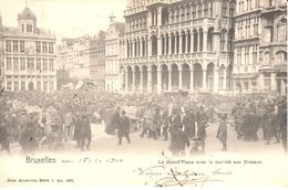 Bruxelles - CPA - Brussel - La Grand'Place Avec Le Marché Aux Oiseaux - Markten