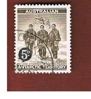 TERRITORI ANTARTICI AUSTRALIANI (AAT AUSTRALIAN ANTARCTIC TERRITORY) SG 2 - 1959 SHACKLETON EXPEDITION OVERPR.  -  USED - Territorio Antartico Australiano (AAT)