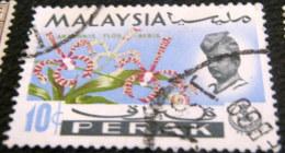 Malaysia Perak 1965 Orchids 10c - Used - Malaysia (1964-...)