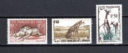COTE DES SOMALIS N° 287 à 289  NEUFS AVEC CHARNIERES COTE 3.20€  ANIMAUX - Französich-Somaliküste (1894-1967)