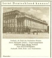 5198  Bach, Orgue: Entier (c.p.) D'Allemagne, 1954 -  BACH In Ansbach: Stationery Postcard From Germany. Organ - Musik