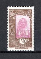 COTE DES SOMALIS N° 127  NEUF SANS CHARNIERE COTE 1.15€  FEMME - Französich-Somaliküste (1894-1967)