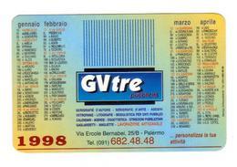 Advertising-pubblicità Su CALENDARIETTO TASCABILE 1998 Ditta GV TRE - Calendari