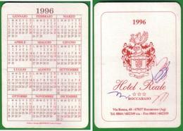 Advertising-pubblicità Su CALENDARIETTO TASCABILE 1996 HOTEL REALE--ROCCARASO. - Calendari