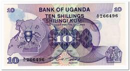 UGANDA,10 SHILLINGS,1982,P.16,UNC - Uganda