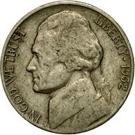 Monnaie, États-Unis, Jefferson Nickel, 5 Cents, 1952, U.S. Mint, Philadelphie - Emissioni Federali