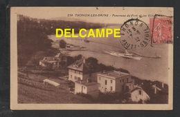 DF / 74 HAUTE SAVOIE / THONON-LES-BAINS / PANORAMA DU PORT ET LES VILLAS / CIRCULÉE EN 1923 - Thonon-les-Bains
