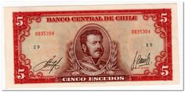 CHILE,5 ESCUDOS,1964,P.138,AU-UNC - Chile