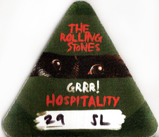 THE ROLLING STONES PASS HOSPITALITY + BRACELET ORIGINAL, LONDRES, O2, 29/11/2012 - Concert Tickets