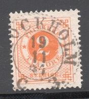 1886  SVERIGE  SVEZIA  2    Usato - Suède